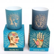 2 x Boxed Phrenology and Palmistry Scented Candle Set 1