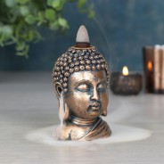 Bronze Buddha Head Backflow Burner 2