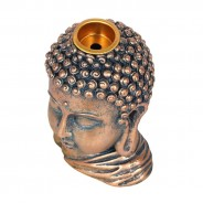 Bronze Buddha Head Backflow Burner 6