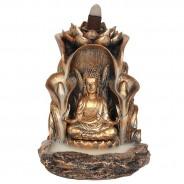 Bronze Finish Sitting Buddha Backflow Burner 2