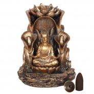 Bronze Finish Sitting Buddha Backflow Burner 4