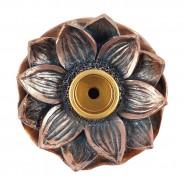 Bronze Lotus Flower Backflow Incense Burner 3