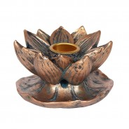 Bronze Lotus Flower Backflow Incense Burner 4