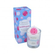 Bubble Gum Piped Candle 1
