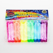 Neon Star Bubble Tubes (12 pack) 3