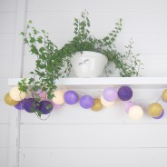 Cable & Cotton Purple Nights Fairy Lights 20 LED 1