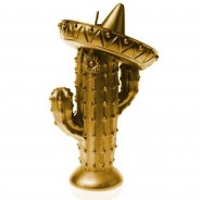 Cactus Sombrero Candle Gold 3