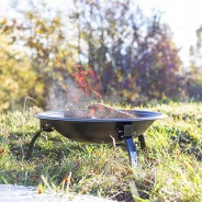 Camping Steel Fire Pit with Grill 5