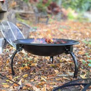 Camping Steel Fire Pit with Grill 3