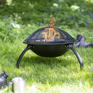 Camping Steel Fire Pit with Grill 1