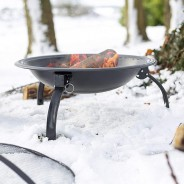 Camping Steel Fire Pit with Grill 4
