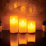 3 Dancing Flame LED Candles 3