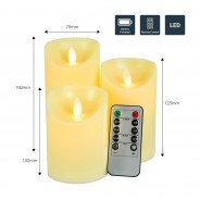 3 Dancing Flame LED Candles 8