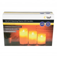 3 Dancing Flame LED Candles 10