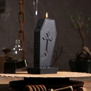Halloween Coffin Candle 2