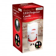 Santa LED Projector Candle 4