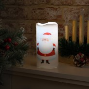 Santa LED Projector Candle 1
