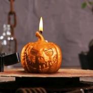 Halloween Pumpkin Candle 1