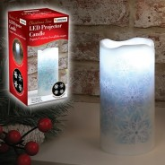 Snowflake Projector Candle 3