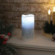 Snowflake Projector Candle 1