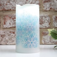 Snowflake Projector Candle 2