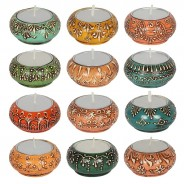 Colourful Indian Tealight Holders 6