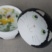 Cat 2 in 1 Soy Candle Trinket Box  2 Honey Suckle & Jasmine