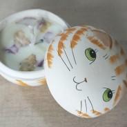 Cat 2 in 1 Soy Candle Trinket Box  4 Apple & Elderflower