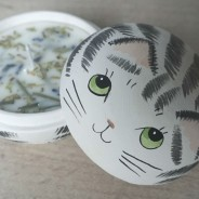 Cat 2 in 1 Soy Candle Trinket Box  5 Lavender & Chamomile