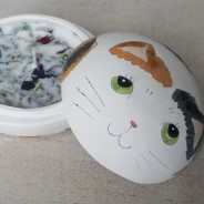 Cat 2 in 1 Soy Candle Trinket Box  3 Sweet Pea & Rose