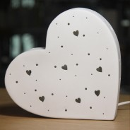 3D Ceramic Lamp Heart 2