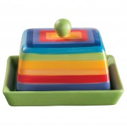 Rainbow Ceramics Breakfast Essentials  10 Butter Dish