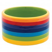 Rainbow Ceramics Pet Bowls  7 Dog bowl