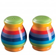 Rainbow Ceramics Breakfast Essentials  8 Salt and Pepper Shakers