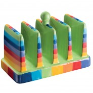 Rainbow Ceramics Breakfast Essentials  11 Toast Rack