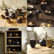 Ceylon Black and Gold Ceramics  2
