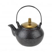 Ceylon Black and Gold Ceramics  8 Teapot