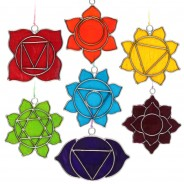 Set of 7 Chakra Sun Catchers 1