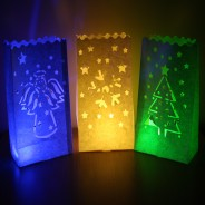 Christmas Candle Bags (3 Pack) 2 w/ Sub Lite LED Tealights