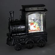 Glitter Water Spinner Christmas Train 2