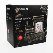 Glitter Water Spinner Christmas Train 4