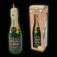 Classic Champagne Bottle Fizz Candle 1