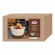 Clay Fire Bowl on Stand (FF441) 4