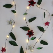 Clematis Metal Floral Fairy Lights 2