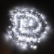 Cluster LED Timer Fairy Lights with Twinkle Effect  7 Cool White