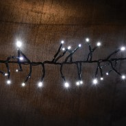Cluster LED Timer Fairy Lights with Twinkle Effect  9 Cool White