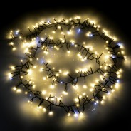 Cluster LED Timer Fairy Lights with Twinkle Effect  6 Warm White