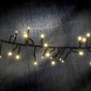 Cluster LED Timer Fairy Lights with Twinkle Effect  8 Warm White