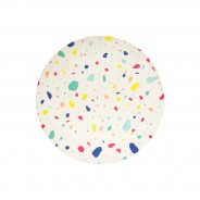 Colourful Bamboo Plates 23cm (2 pack) 2