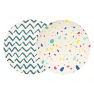 Colourful Bamboo Plates 23cm (2 pack) 1